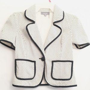 A white and black blazer